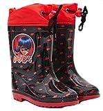 Trendstern Botas de agua Miraculous Ladybug para niña, rojo/negro, 27/28 EU