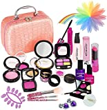 YORKOO Maquillaje Niñas Set Maletin Juguete Niña 24 PCS Pretender Set de Maquillaje Juego de Princesa para Niñas 3-6 Años(Maquillaje no Real)