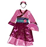 Officially licensed Disney Princess Mulan fancy dress Age 7-8 Years Girls Book Week Costume with Cameo Brooch, Headband & Chinese Fan. Made for the Disney @ George Collection …