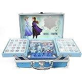 Frozen II Makeup Train Case - Maletín de Maquillaje de 2 Pisos - Set de Maquillaje para Niñas - Maquillaje Frozen - Neceser Maquillaje y Accesorios en un Maletín Reutilizable con...