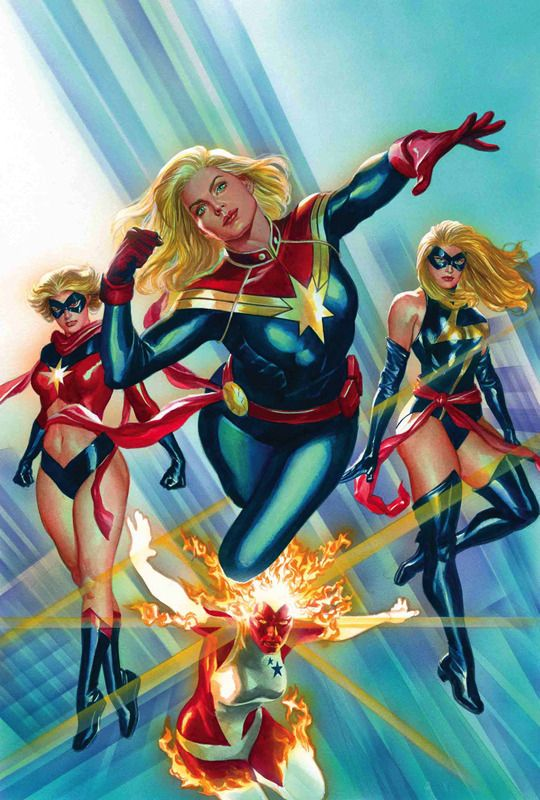 Ms marvel binaria warbird y capitana marvel