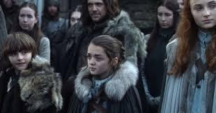 Arya Bran y Samsa Stark