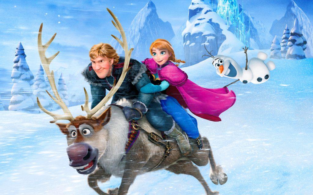 Anna Kristoff Olaf y Sven de Frozen