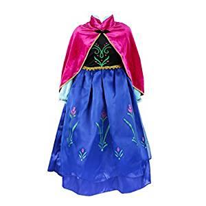 disfraz anna frozen princesas disney niña