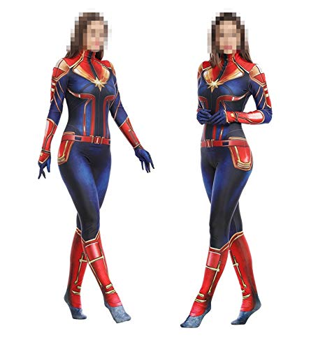 disfraz mujer capitana marvel avengers end game cosplay