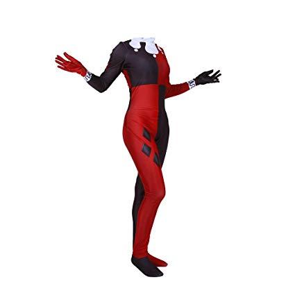 disfraz mujer harley quinn arlequin escuadron suicida comic  dc comics cosplay