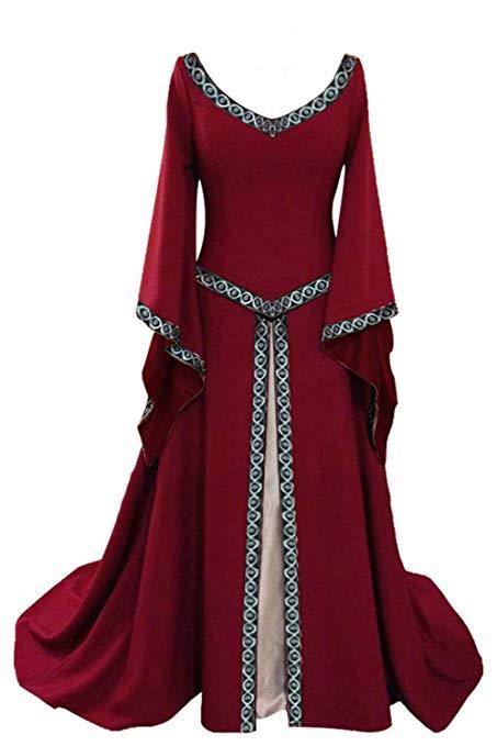 disfraz mujer princesa rojo