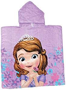 capa baño poncho ducha princesa sofia playa piscina montaña disney channel