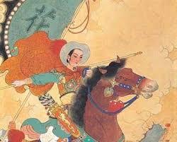 Ilustración de Mulan del poema la balada de mulan